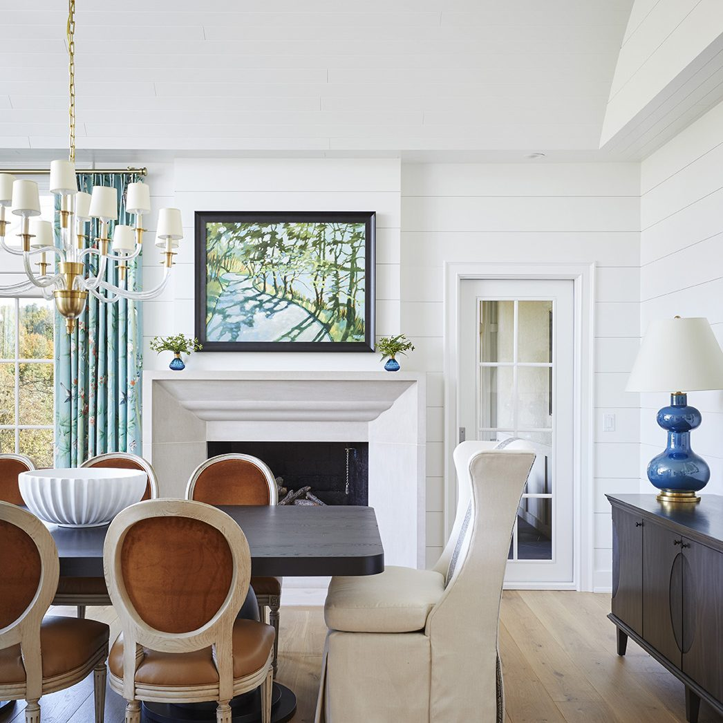 Kenowa Builders, Grand Rapids Builder: Traditional Dining Room Design, Dining Room Remodeling, fireplace makeover