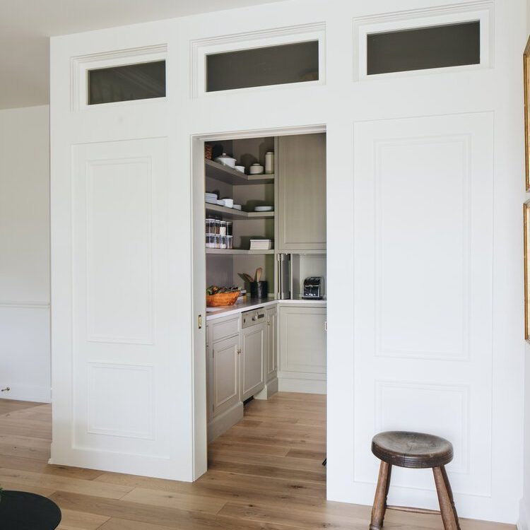 Kenowa Builders Neutral Kitchen Butler's Pantry with Jean Stoffer Design