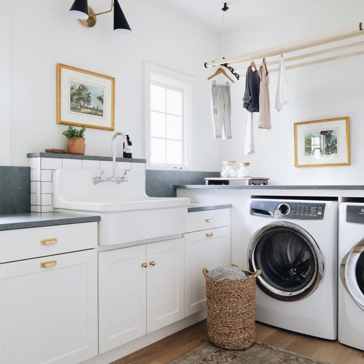 Modern Farmhouse Laundry Makeover by Kenowa Builders, Neutral Modern Laundry Room Design