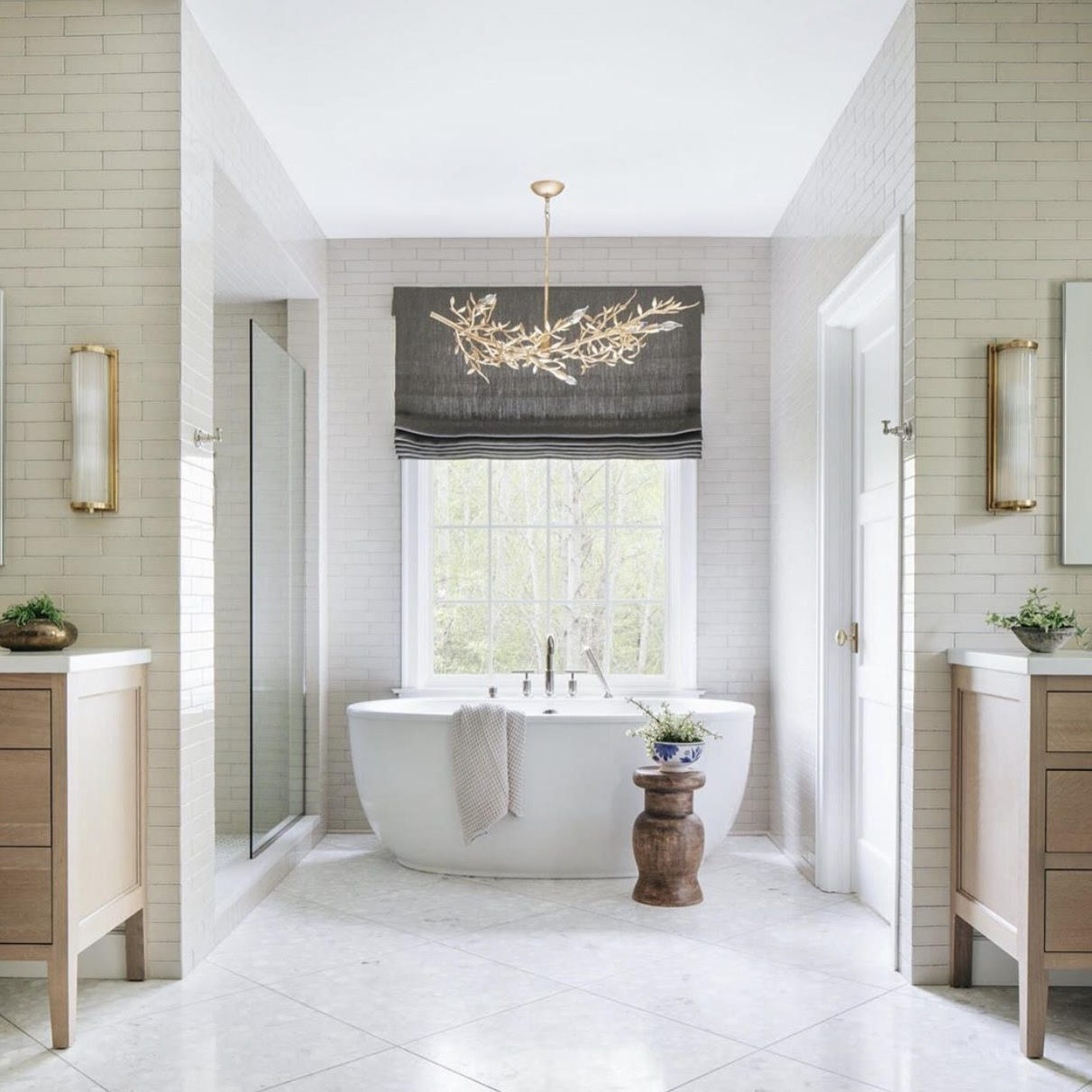 Modern Neutral Bathroom Makeover by Kenowa Builders, Neutral Master Bathroom Design