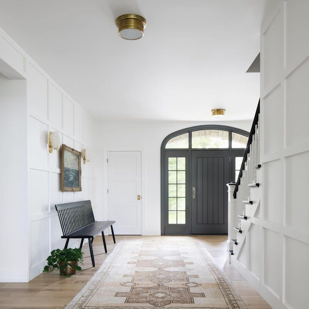 Modern Farmhouse Foyer by Kenowa Builders, Modern Neutral Front Entry Design