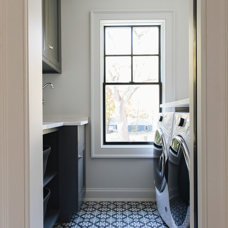 Kenowa Builders: Modern Neutral Laundry Room Remodel, Laundry Room Makeover