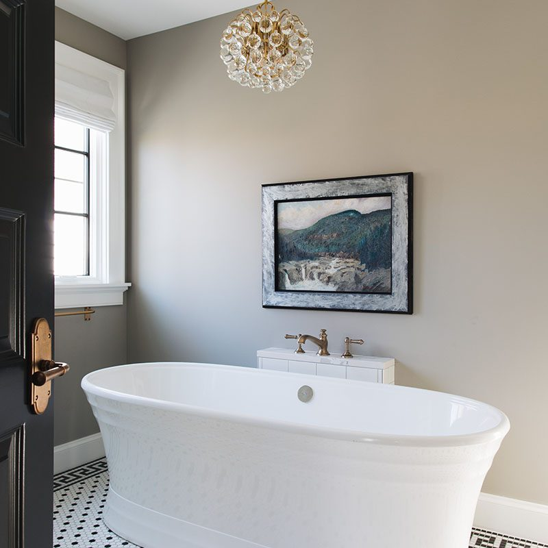 Kenowa Builders: Modern Bathroom Design, Master Bathroom Makeover, freestanding bathtub
