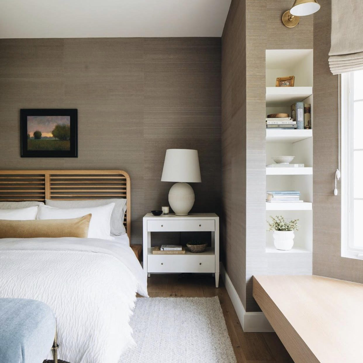 Modern Neutral Master Bedroom Build by Kenowa Builders, Modern Bedroom Design